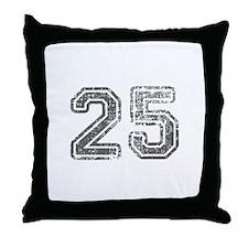 25-Col gray Throw Pillow