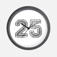 25-Col gray Wall Clock