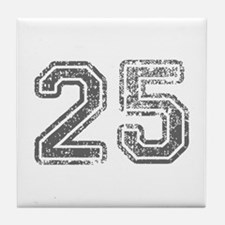 25-Col gray Tile Coaster