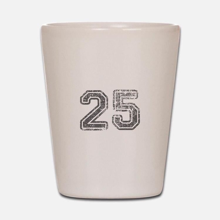 25-Col gray Shot Glass