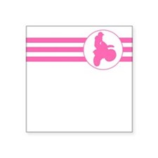 Motorcycle Racing Stripes (Pink) Sticker