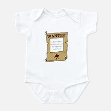"""Infant Bodysuit, 'Wanted: Little Buckaroo"""""""