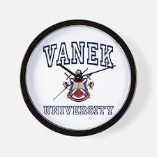 VANEK University Wall Clock
