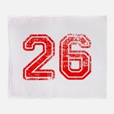 26-Col red Throw Blanket