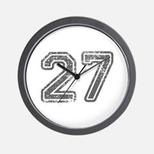27-Col gray Wall Clock
