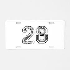 28-Col gray Aluminum License Plate