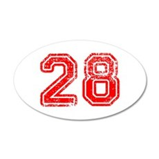 28-Col red Wall Decal