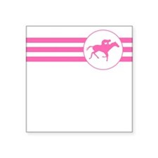 Horse Racing Stripes (Pink) Sticker