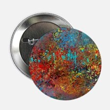 "Abstract in Turquoise, Red, Yellow, B 2.25"" Button"