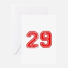 29-Col red Greeting Cards