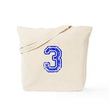 3-Col blue Tote Bag