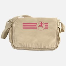 Hurdles Stripes (Pink) Messenger Bag