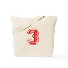3-Col red Tote Bag
