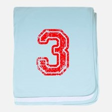 3-Col red baby blanket