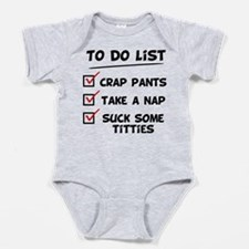 baby to do list Baby Bodysuit