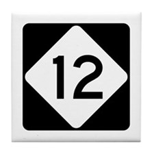 Highway 12, North Carolina Tile Coaster