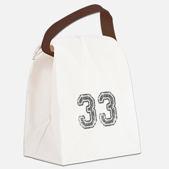 33-Col gray Canvas Lunch Bag