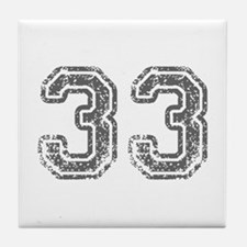 33-Col gray Tile Coaster