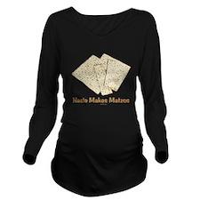 Haste Makes Matzohs Long Sleeve Maternity T-Shirt