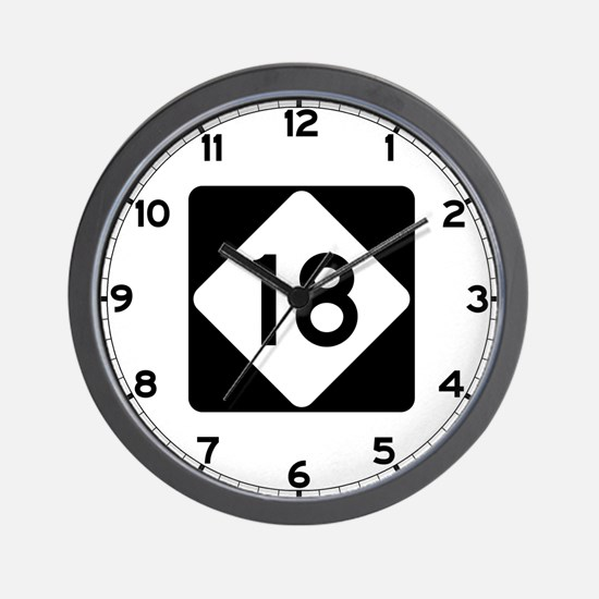 Highway 18, North Carolina Wall Clock