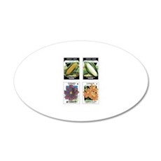 Corn and Cosmos 4 Pack Wall Decal