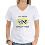 LIFE IS HARD Women's V-Neck T-Shirt
