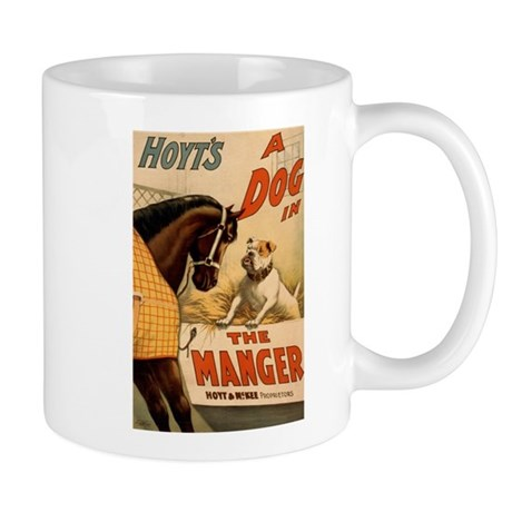 DOG IN THE MANGER coffee cup