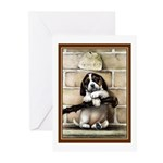 VINTAGE PUPPY DOG ART Greeting Cards (Pk of 20)