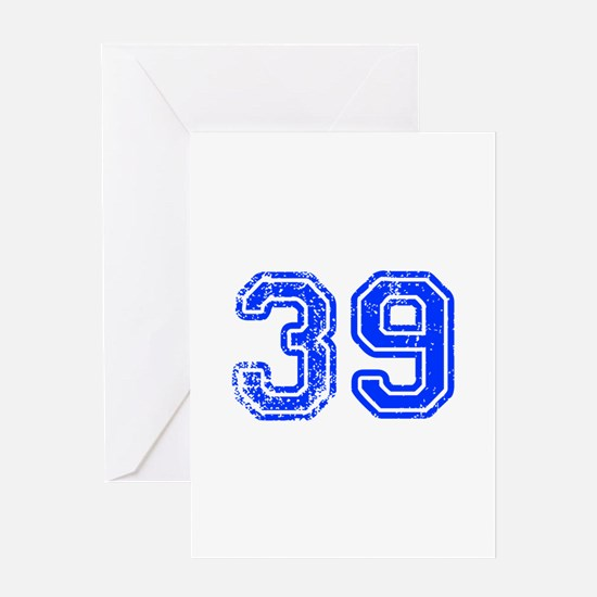 39-Col blue Greeting Cards