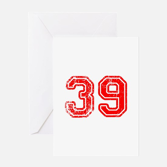 39-Col red Greeting Cards