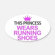Princess Running Shoes Oval Car Magnet
