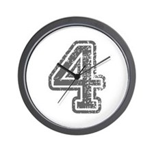 4-Col gray Wall Clock