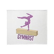 Gymnast Throw Blanket