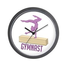 Gymnast Wall Clock