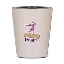 Gymnast Shot Glass