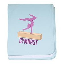 Gymnast baby blanket