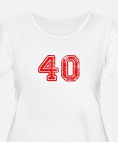 40-Col red Plus Size T-Shirt