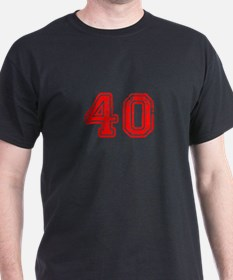 40-Col red T-Shirt