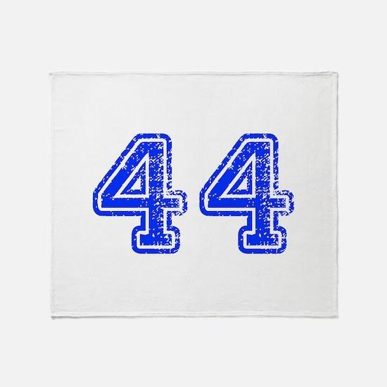 44-Col blue Throw Blanket