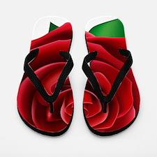 Red Rose Flip Flops