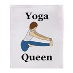 Yoga Queen Throw Blanket