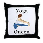 Yoga Queen Throw Pillow