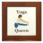 Yoga Queen Framed Tile