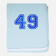 49-Col blue baby blanket