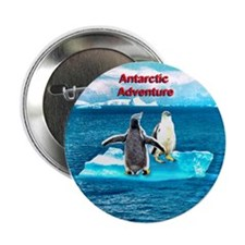 Antarctic Icebergs and penguins - Button