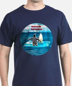 Antarctic Icebergs and penguins - T-Shirt