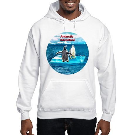 Antarctic Icebergs and penguins - Hooded Sweatshir