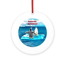 Antarctic Icebergs and penguins - Ornament (Round)