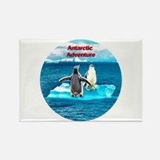 Antarctic Icebergs and penguins - Rectangle Magnet