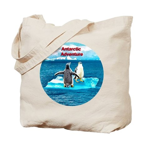 Antarctic Icebergs and penguins - Tote Bag